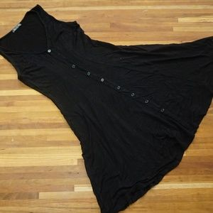 Soprano Black tank dress with buttons